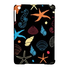Seahorse Starfish Seashell Shell Apple Ipad Mini Hardshell Case (compatible With Smart Cover)