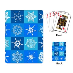 Seamless Blue Snowflake Pattern Playing Card