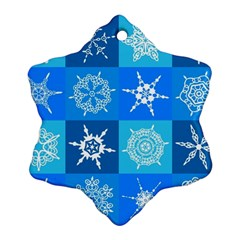 Seamless Blue Snowflake Pattern Ornament (Snowflake)