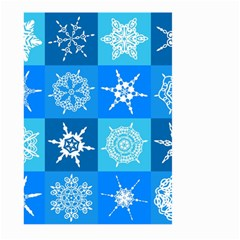 Seamless Blue Snowflake Pattern Large Garden Flag (Two Sides)