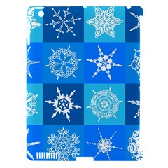 Seamless Blue Snowflake Pattern Apple Ipad 3/4 Hardshell Case (compatible With Smart Cover)
