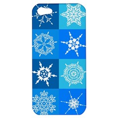 Seamless Blue Snowflake Pattern Apple Iphone 5 Hardshell Case