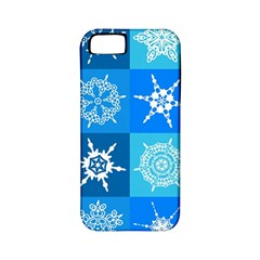 Seamless Blue Snowflake Pattern Apple Iphone 5 Classic Hardshell Case (pc+silicone)