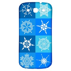 Seamless Blue Snowflake Pattern Samsung Galaxy S3 S Iii Classic Hardshell Back Case