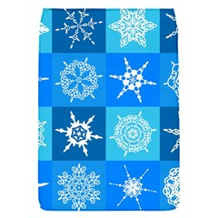 Seamless Blue Snowflake Pattern Flap Covers (S)