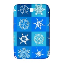 Seamless Blue Snowflake Pattern Samsung Galaxy Note 8 0 N5100 Hardshell Case