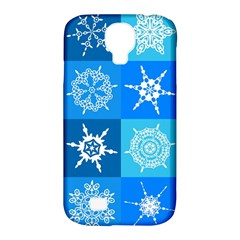 Seamless Blue Snowflake Pattern Samsung Galaxy S4 Classic Hardshell Case (PC+Silicone)