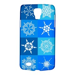 Seamless Blue Snowflake Pattern Galaxy S4 Active