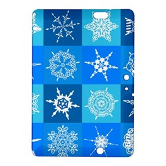 Seamless Blue Snowflake Pattern Kindle Fire Hdx 8 9  Hardshell Case