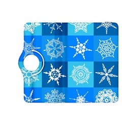 Seamless Blue Snowflake Pattern Kindle Fire Hdx 8 9  Flip 360 Case