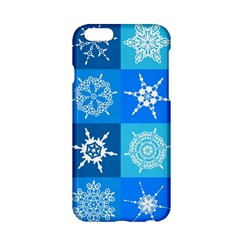 Seamless Blue Snowflake Pattern Apple iPhone 6/6S Hardshell Case