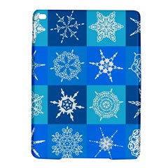 Seamless Blue Snowflake Pattern iPad Air 2 Hardshell Cases