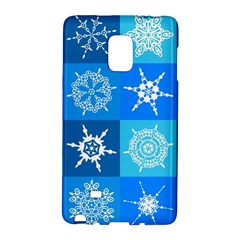Seamless Blue Snowflake Pattern Galaxy Note Edge