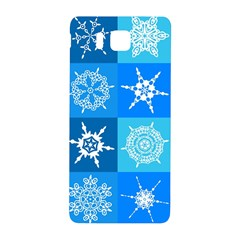 Seamless Blue Snowflake Pattern Samsung Galaxy Alpha Hardshell Back Case
