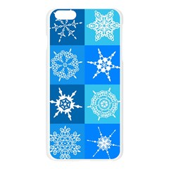 Seamless Blue Snowflake Pattern Apple Seamless iPhone 6 Plus/6S Plus Case (Transparent)