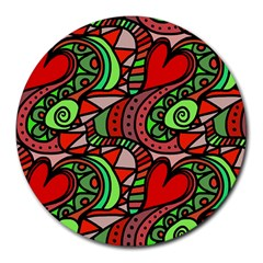 Seamless Tile Background Abstract Round Mousepads
