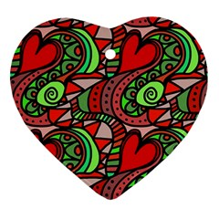 Seamless Tile Background Abstract Ornament (Heart)