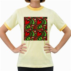 Seamless Tile Background Abstract Women s Fitted Ringer T Shirts