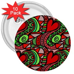 Seamless Tile Background Abstract 3  Buttons (10 pack)