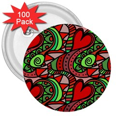 Seamless Tile Background Abstract 3  Buttons (100 Pack)