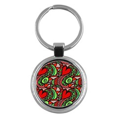 Seamless Tile Background Abstract Key Chains (Round)