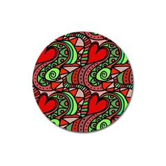 Seamless Tile Background Abstract Magnet 3  (round)