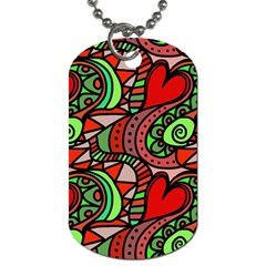 Seamless Tile Background Abstract Dog Tag (one Side)