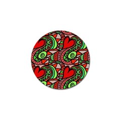 Seamless Tile Background Abstract Golf Ball Marker (10 Pack)