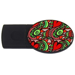 Seamless Tile Background Abstract USB Flash Drive Oval (1 GB)