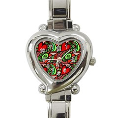 Seamless Tile Background Abstract Heart Italian Charm Watch