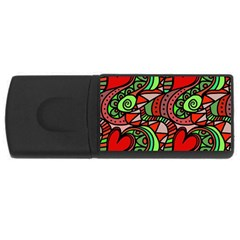 Seamless Tile Background Abstract USB Flash Drive Rectangular (4 GB)