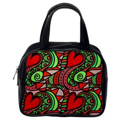 Seamless Tile Background Abstract Classic Handbags (One Side)