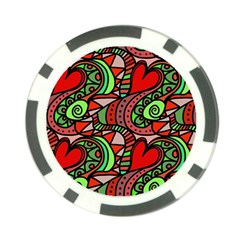 Seamless Tile Background Abstract Poker Chip Card Guard (10 pack)