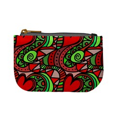 Seamless Tile Background Abstract Mini Coin Purses