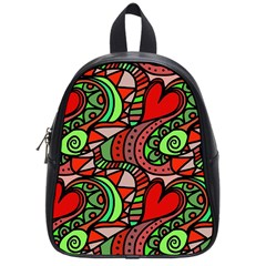 Seamless Tile Background Abstract School Bags (Small)