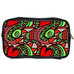 Seamless Tile Background Abstract Toiletries Bags