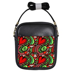Seamless Tile Background Abstract Girls Sling Bags