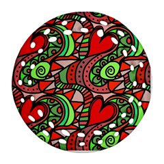 Seamless Tile Background Abstract Round Filigree Ornament (Two Sides)