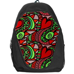 Seamless Tile Background Abstract Backpack Bag