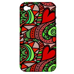 Seamless Tile Background Abstract Apple iPhone 4/4S Hardshell Case (PC+Silicone)
