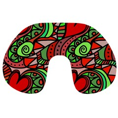 Seamless Tile Background Abstract Travel Neck Pillows