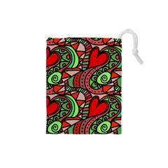 Seamless Tile Background Abstract Drawstring Pouches (small)