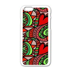 Seamless Tile Background Abstract Apple iPhone 6/6S White Enamel Case