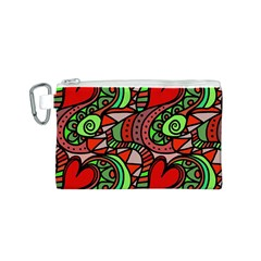 Seamless Tile Background Abstract Canvas Cosmetic Bag (s)