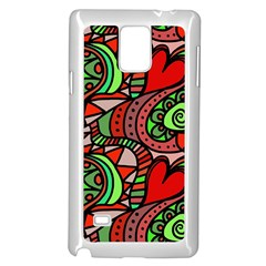 Seamless Tile Background Abstract Samsung Galaxy Note 4 Case (White)