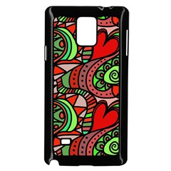 Seamless Tile Background Abstract Samsung Galaxy Note 4 Case (black)