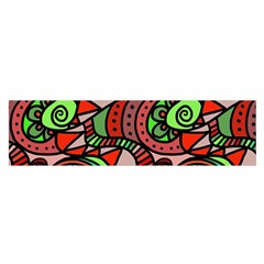 Seamless Tile Background Abstract Satin Scarf (oblong)