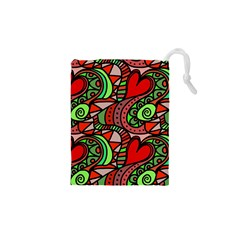 Seamless Tile Background Abstract Drawstring Pouches (XS)