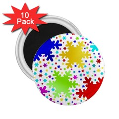 Seamless Snowflake Pattern 2.25  Magnets (10 pack)