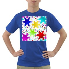Seamless Snowflake Pattern Dark T Shirt